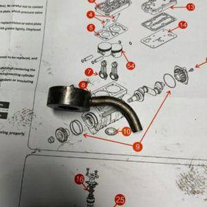 Dysza Smarowania Tłoka silnika MAN D0824 D0826