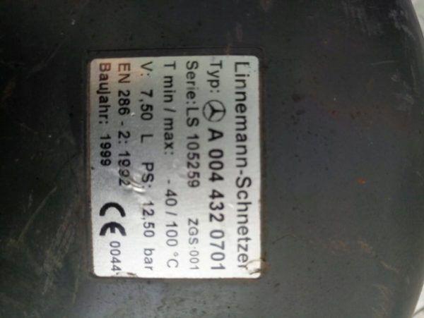 A 801400373 BUTLA POWIETRZA 7.5L. ACTROS