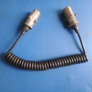 Kabel przewód 7 pinow spiralny